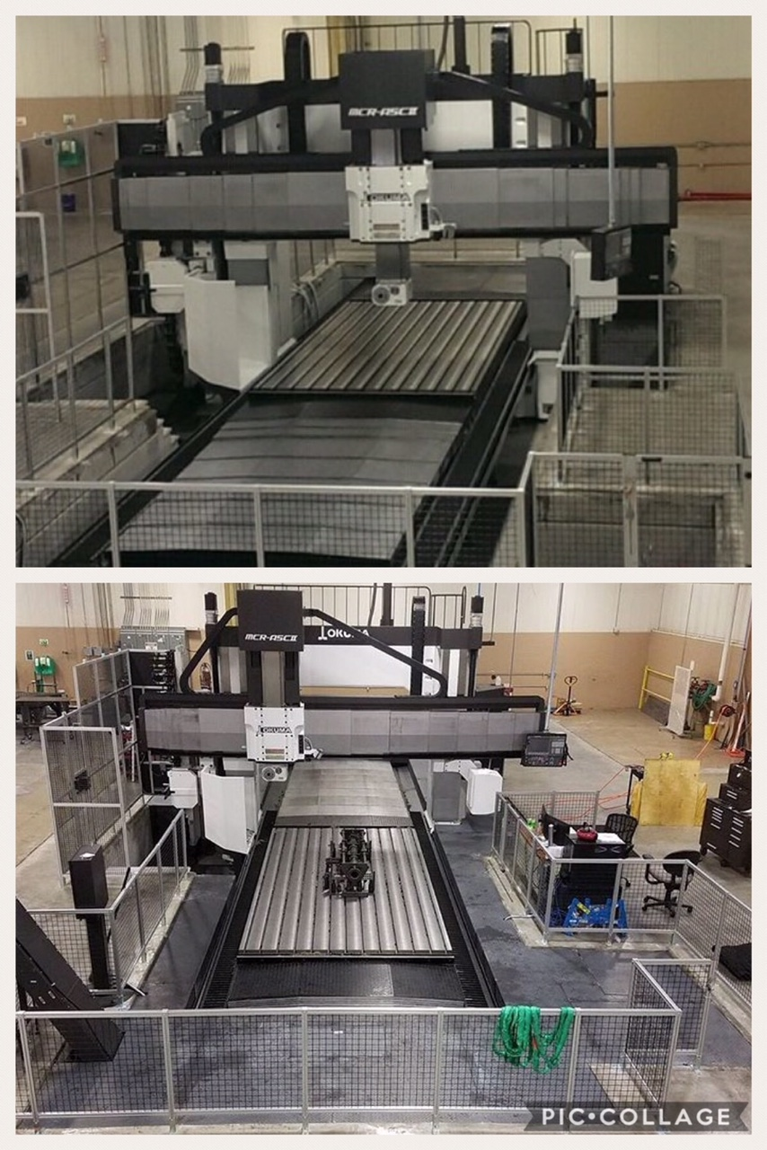 Fabricated walkway around machine