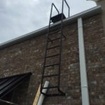 Roof accesible ladder