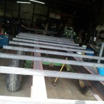 Fabricated wagon frame