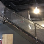Fabricated steel steps and rail